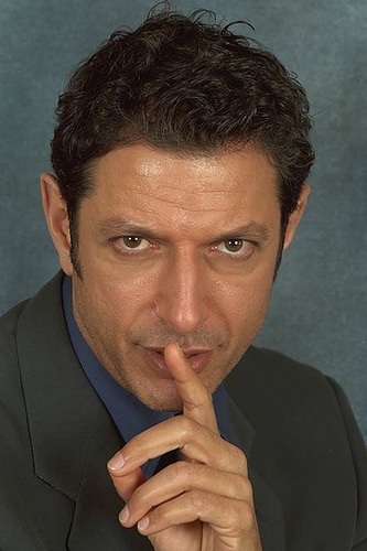 Jeff Goldblum has at least one hand, and on that hand, at least one finger.